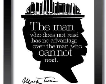 Mark Twain Quote 8x10 Print