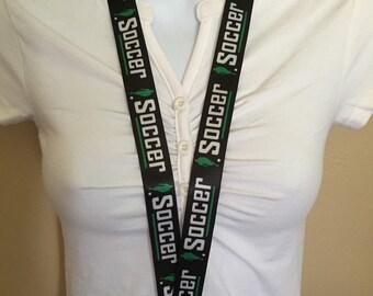 Soccer lanyard, ID holder, key holder