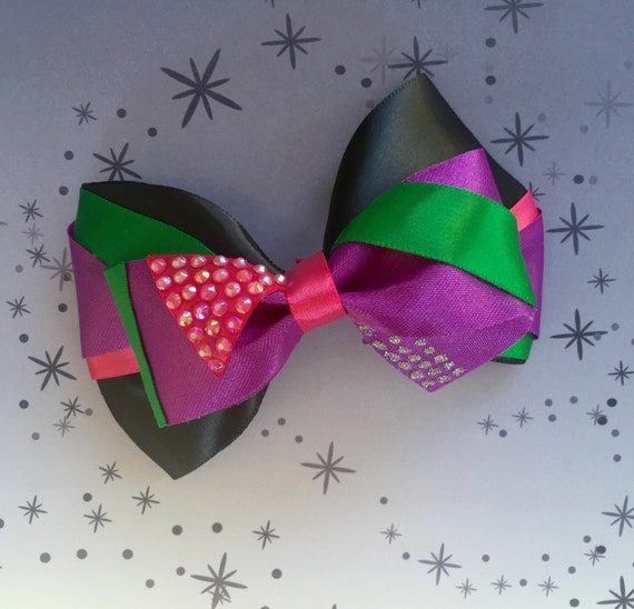 Disney Descendants Mal Inspired Hair Bow