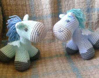 crochet pegasus plush toy - choose your colors