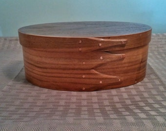 Size 3 Steam Bent Shaker Box with Cherry and Cedar Woods