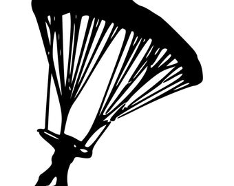 Skydiver Die-Cut Decal Car Window Wall Bumper Phone Laptop