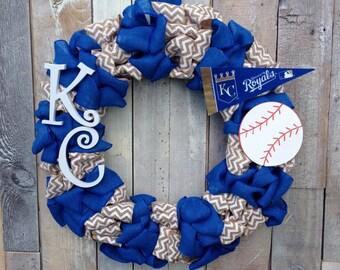 Kansas City Royals Burlap Wreath