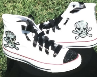 Skull Bling Converse Sneakers.