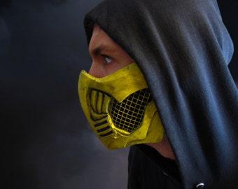Scorpion Mask Mortal Kombat 10 Solid Urethane Not Itchy Fiberglass!