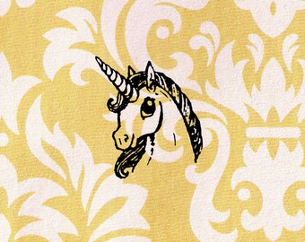 Unicorn Stamp: Wood Mounted Rubber Stamp