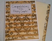 Plain and Simple Congratulations to the Happy Couple Greeting Card - RESERVED FOR CAITLIN