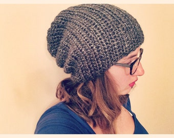 Two Stitch Slouchy Beanie