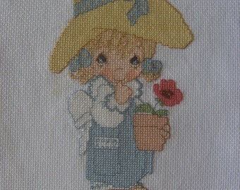 Happy Birthday - Finished completed Cross Stitch