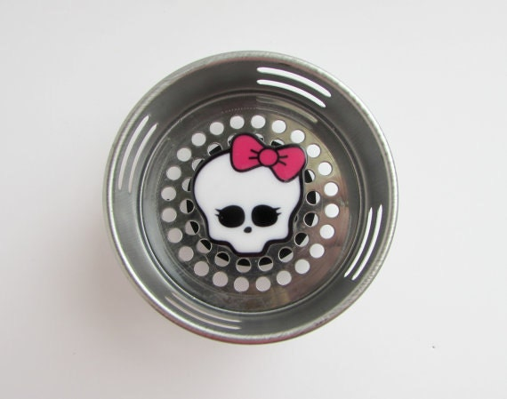 Decorative sink strainer drain plugskullsgirly by accessoriesbyash - Decorative kitchen sink strainers ...