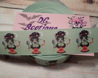 You're So Vein Zombie Pinup Grosgrain Ribbon