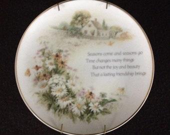 Vintage Lasting Memories Friendship Porcelain Decorator Plate (GM188)