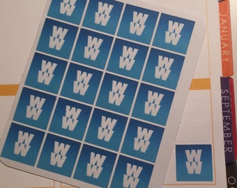 Set of 20 - Weight Watchers Stickers