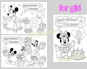 minni and mickey mouse personalized coloring pages activity pdf