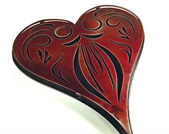 Poker Cards Vintage Red Heart