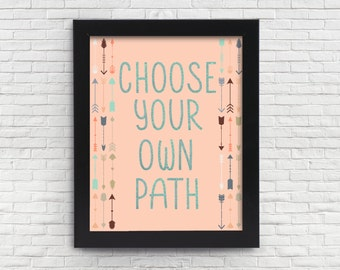 Choose Your Own Path Digital Print - 300 DPI 11X14 and 8X10 Digital Download