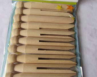 Pack of 12 Wooden Dolly Pegs