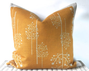 Mustard cushion cover, yellow pillow, mustard throw pillow, sofa cushion, bedroom decor, accent cushion, zippered pillow