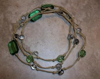 Green Knotted Bracelet