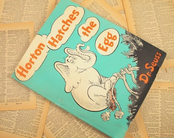 1940 Horton Hatches The Egg - Early Printing - Dr Seuss - Vintage Seuss - Vintage Childrens Book - Old Book