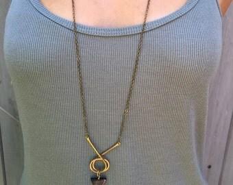 SALE SALE SALE Tourmaline triangle necklace
