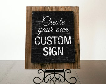 Custom Signs with Reclaimed Wood. Custom Wood Sign. Rustic Signs. Business Sign. Rustic Wedding Decor. Restaurant Sign. Rustic Decor. 10x12