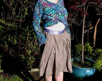 Campsie knitted wrap with sleeves knitting pattern