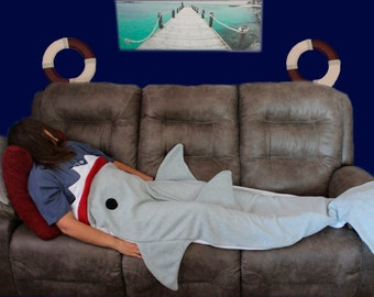 Shark Pillow That Eats You shark sleeping bag | etsy