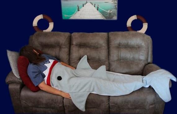 Shark Fleece Blanket Sleeping Bag - Sleeping bag shark