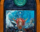 Honoring Isis (Framed) - Healing Art - Visionary Art - Sacred Art - Shari Landau - SacredArtbyShari