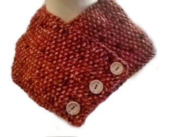 Knitted Red Scarf, short scarves, neck scarf, knitted scarf ladies scarf neckwarmer  Scarflette Christmas scarf Stocking filler, Girls scarf