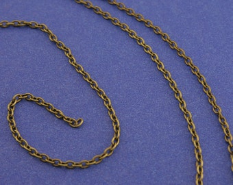 32 Ft. Antiqued Brass Round Cable Chain 3x2.5mm links, 10M Antiqued Bronze Chain 3mm x 2.5mm open links-AB-B37577-8S