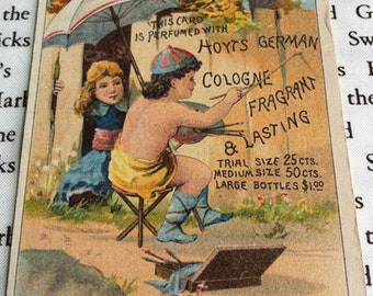 1887 Victorian Hoyts German Cologne Trade Card, Graffiti Artist