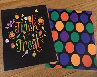 Front and Back Cover Set *Fall Halloween Colorful Candy Trick or Treat* for use with Erin Condren or Happy Planner