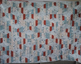 "Twin Bed Quilt "" XOXO"""