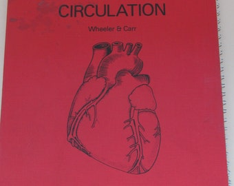 Vintage 1970s Anatomy Book ~ Circulation ~ With Removeable Transparencies