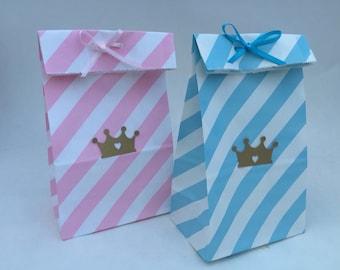Prince Favor Bags: Princess Favor Bags, Prince Candy Bags, Favor Bags, Goody Bags, Treat Bag
