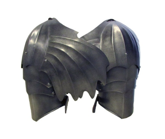 Larp Armour Gothic Winged Pauldrons, spaulders, spalders, with haute-piece