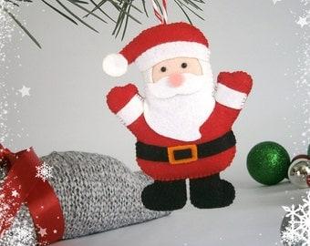 Felt Christmas ornaments felt decor Christmas toy Santa decoration new year gift Christmas tree ornament red white Christmas gifts Nativity