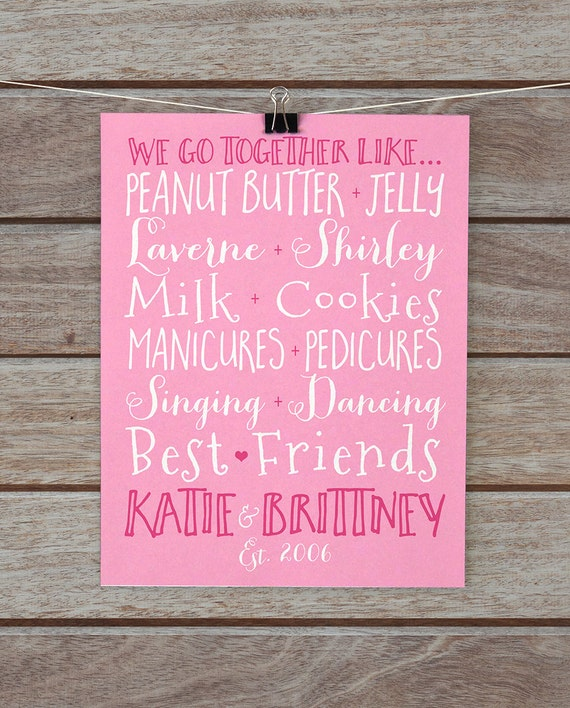 Best Friend Gift Custom Pairs Present For Friends Sister
