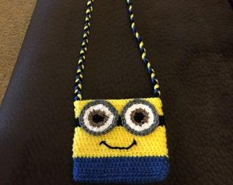 Crochet Minion Bag Pattern : Minion crochet purse Etsy