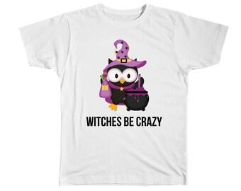Girls Witch Shirt Halloween Shirt Trick Or Treat Halloween Witch Girl Halloween Fall Shirt Halloween Party Halloween TShirt Halloween Owl