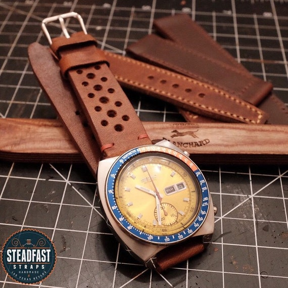 Horween dublin leather rally strap handmade to by steadfaststraps for Men gradient leather strap