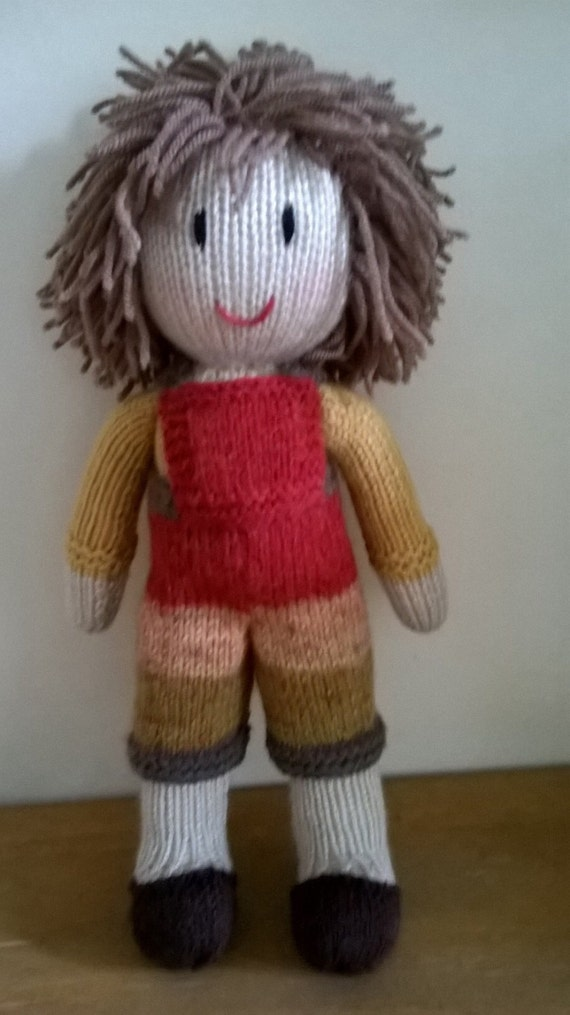 Knitting Patterns For Boy Dolls : Hand knitted boy doll