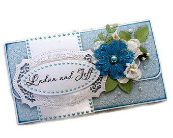Personalized Gift - Gift Card Envelope - Newlyweds Gift - Wedding Gift - Just Married Card - Gift For Couples - Mr and Mrs Unique Gift