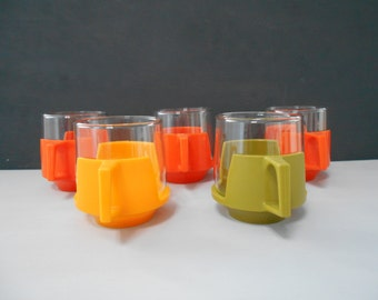 JAJ Pyrex Heatproof Cups Set of Five 1970's
