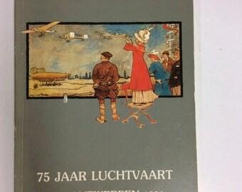 """75 Jaar Luchtvaart 1909 Antwerpen 1984 9.5x6.75"""" #1102"""