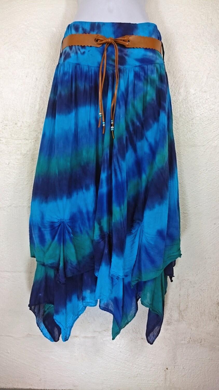 tie dye skirt festival skirt hippy skirt skirt