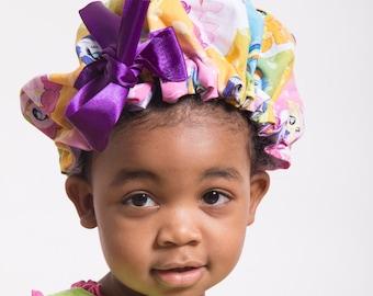 Adjustable Satin Bonnet for Kids & Toddlers