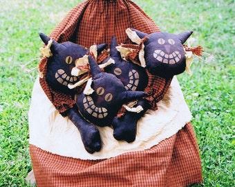 Primitive Funky Felines Halloween Doll Pattern e-pattern